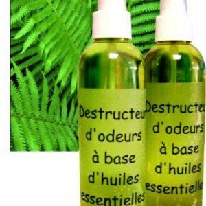 Destructeur d'odeurs à base d'huiles essentielles