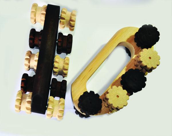 massrol - petit appareil en bois hêtre massif massage