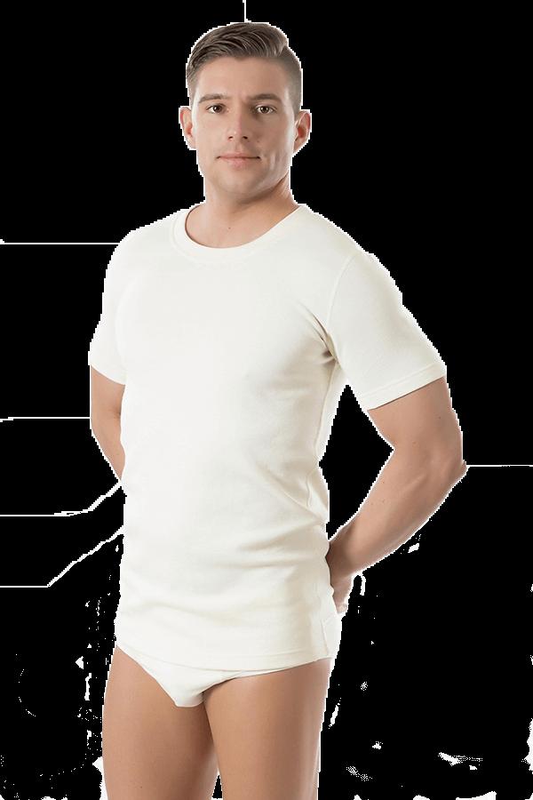 homme avec tshirt ambre